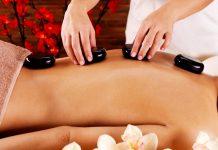 Massage aux pierre chaudes